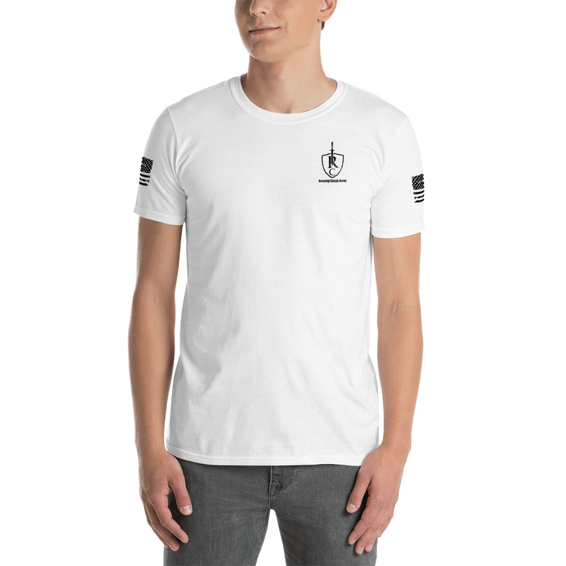 Roaring Creek Arms Short-Sleeve Unisex T-Shirt BLACK LOGO